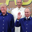 US President Donald Trump and Russian President Vladimir Putin take part in a photo at the Apec summit in Danang, Vietnam, yesterday. Photo: Reuters