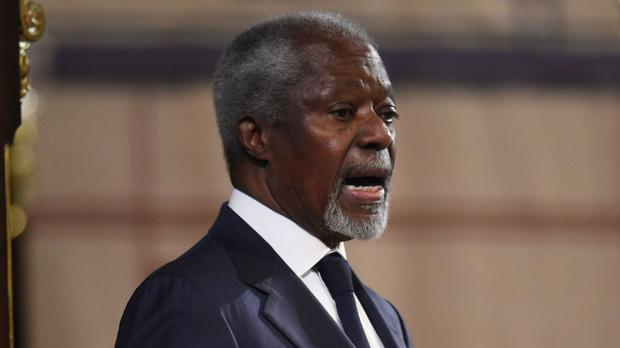 Former secretary general of the United Nations Kofi Annan chairs the independent group of world leaders called The Elders