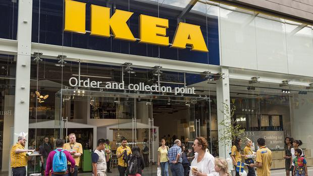 An Ikea click and collect store, as the Swedish firm reveals its UK results (PA)