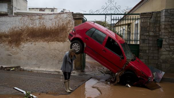 Death toll in Greek floods rises to at least 14