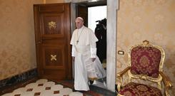 Pope Francis called climate change 'one of the most worrisome phenomena that humanity is facing' (Alberto Pizzoli/AP pool/PA)