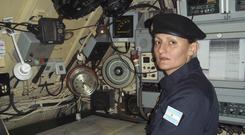 Eliana Krawczyk, the first female submarine officer in Argentina, is one of 44 missing crew members of the ARA San Juan (Argentine Navy via AP)