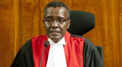 Kenyan Supreme Court Chief Justice David Maraga presides during the judgment (AP/Sayyid Abdul Azim)