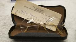 Glasses belonging to John Lennon (Markus Schreiber/AP)