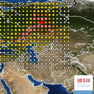 An image issued by the INRS, Institute for Radiological Protection and Nuclear Safety, shows a map of the detection of Ruthenium 106 in France and Europe, apparently originating in Russia (AP)
