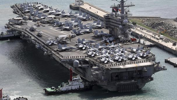 US Navy aircraft carrying 11 people crashes into sea off Japan