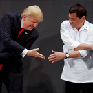 Donald Trump with Philippines president Rodrigo Duterte in Manila during the US president's Asia tour