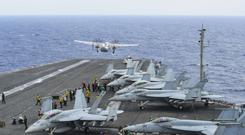 The US Navy said on Friday that the search for three missing sailors had ended (Mass Communication Specialist 3rd Class Eduardo Otero/U.S. Navy via AP)