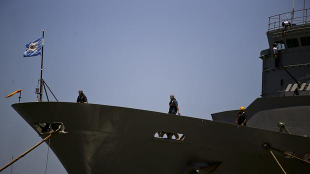The ARA Patagonia is among vessels helping in the search (AP)