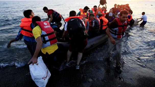 Migrants use Greek islands as an entry point to Europe.