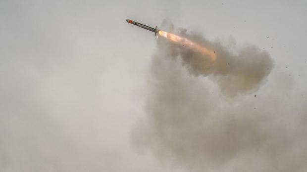 Missiles were launched at a military target near Damascus