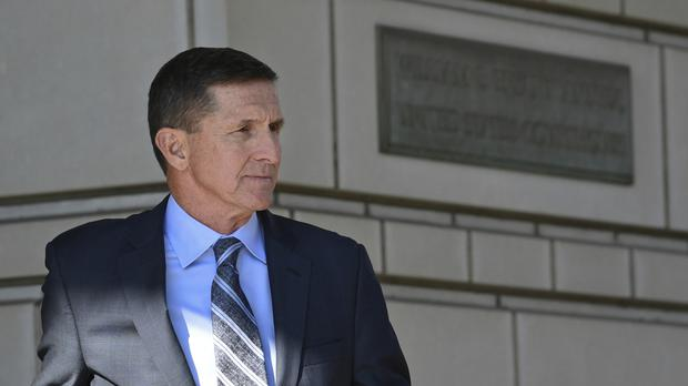Former Trump national security adviser Michael Flynn leaves federal court in Washington (AP Photo/Susan Walsh)