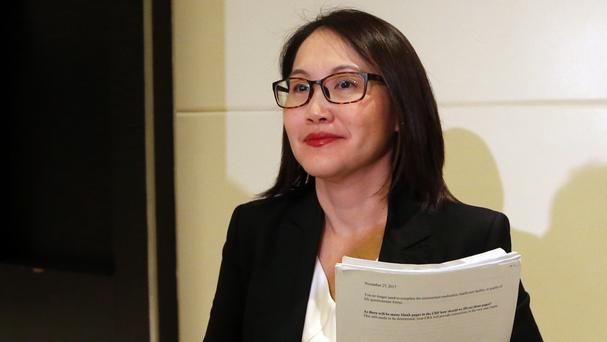 Dr Ng Su-Peing, global medical head at Sanofi Pasteur, the manufacturer of dengue vaccine Dengvaxia (AP Photo/Bullit Marquez)