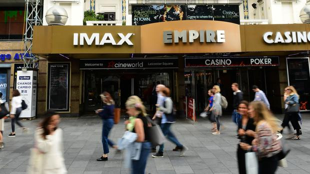 The Cineworld cinema in Leicester Square, London (PA)
