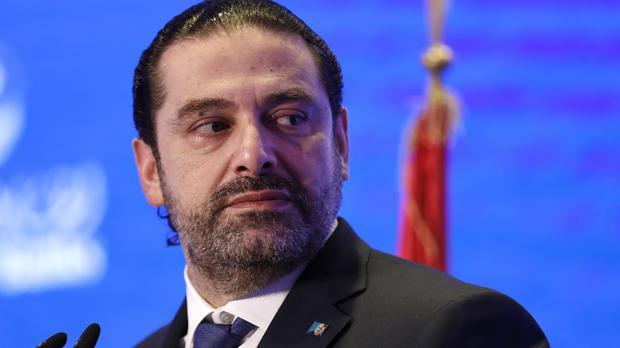 Lebanese PM Saad Hariri shocked the nation with his bizarre resignation in a televised broadcast from Saudi Arabia last month (Hussein Malla/AP)