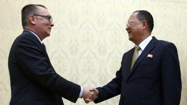 United Nations envoy gets North Korean foreign minister's