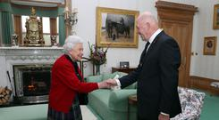 Sir Peter Cosgrove, the Governor-General of Australia, meets the Queen at Balmoral in June
