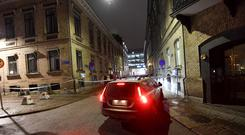 A site where a synagogue was attacked in Gothenburg (AP)