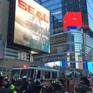 Emergency services outside 42 St-Port Authority Subway Station in New York City (AP)