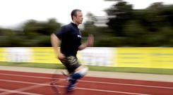 Oscar Pistorius pictured during his days as an athlete