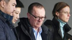 UN undersecretary general for political affairs Jeffrey Feltman met with North Korea officials last week (Minoru Iwasaki/Kyodo News via AP)