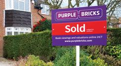 The online estate agent released half year results on Wednesday (Purplebricks/PA)
