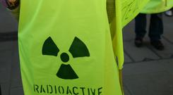 File picture of anti-nuclear power protesters on the anniversary of the Fukushima incident