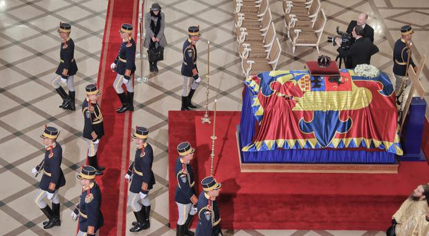 Thousands of mourners say farewell to Romania's King Michael