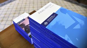 The final report of the Royal Commission into Institutional Responses to Child Sexual Abuse (Jeremy Piper/Australian Government Royal Commission via AP)