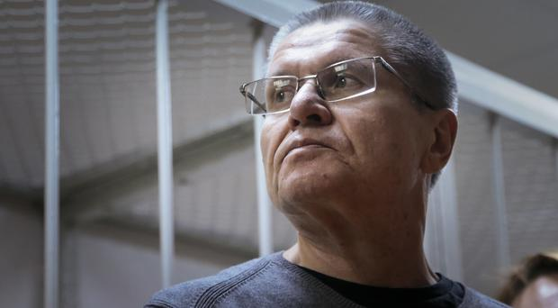 Alexei Ulyukayev waits for the hearing at a court in Moscow (AP/Ivan Sekretarev)