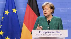 Chancellor Angela Merkel has been holding talks to form a new government after an election in Germany (AP/Geert Vanden Wijngaert)
