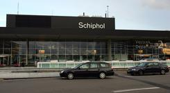 Schiphol airport in Amsterdam was on alert