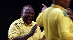 South African deputy president Cyril Ramaphosa has been elected new ANC leader (AP)