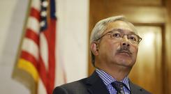 Mr Lee presided over a period of great change in the city (AP)
