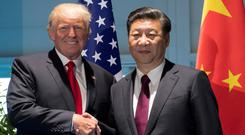 Donald Trump pictured with Xi Jinping on state visit to Beijing. Photo: Reuters