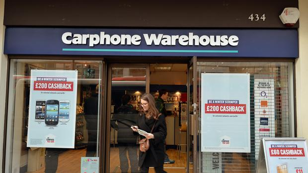 A branch of Carphone Warehouse in central London (PA)