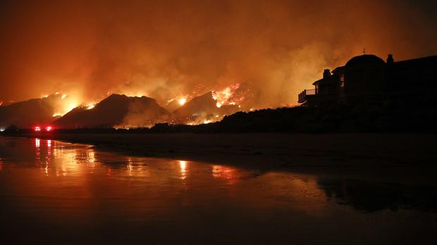 The huge wildfire that burned hundreds of homes in Santa Barbara and Ventura counties is now the largest in California's recorded history (AP Photo/Jae C. Hong, File)
