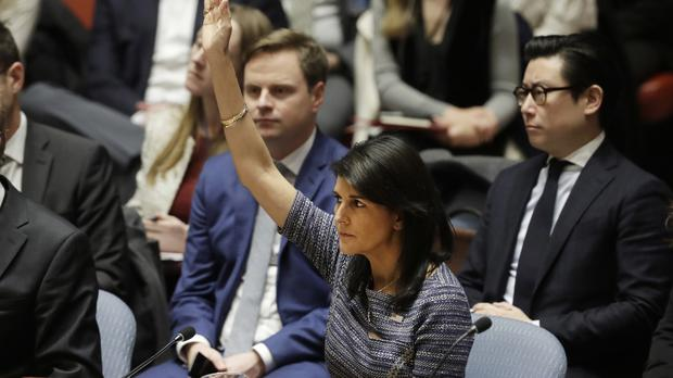 US Ambassador Nikki Haley joined other countries in voting for the sanctions