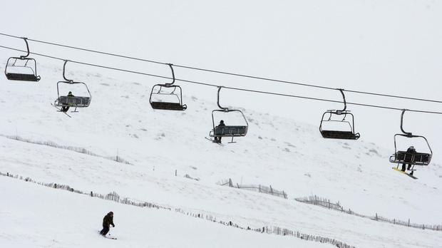 About 200 people were stuck on the ski lift