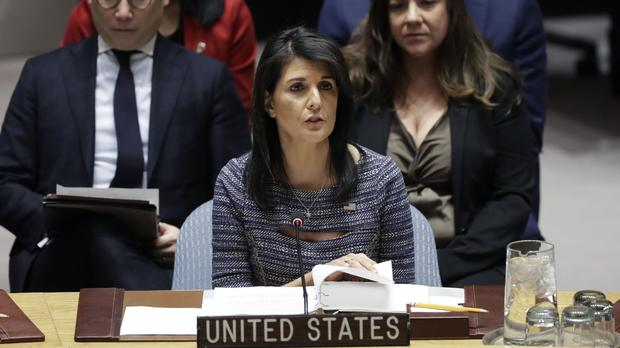 Nikki Haley said the overspending of the UN was well-known (AP)