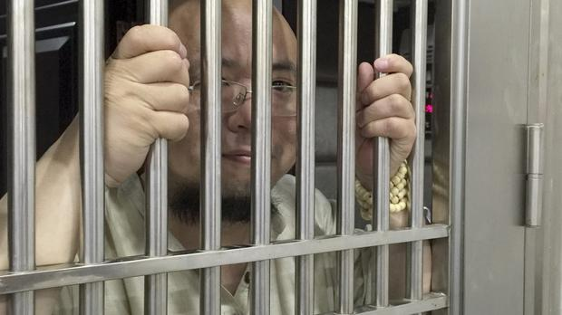 A Chinese court sentenced prominent activist Wu Gan to eight years in prison for subversion. (AP Photo)