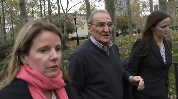 Vincent Asaro leaves court in the Brooklyn borough of New York after being acquitted of charges he helped plan a legendary 1978 Lufthansa heist retold in the hit film Goodfellas (AP/Mike Balsamo)
