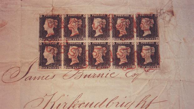 The penny black – the world's first postage stamp - which was sold by Stanley Gibbons (PA)
