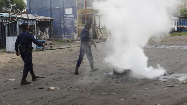 Shots fired, mass dispersed with tear gas in Kinshasa
