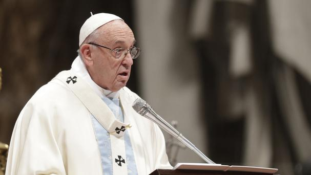 The Pope urged people to reject the banalities of consumerism (AP)