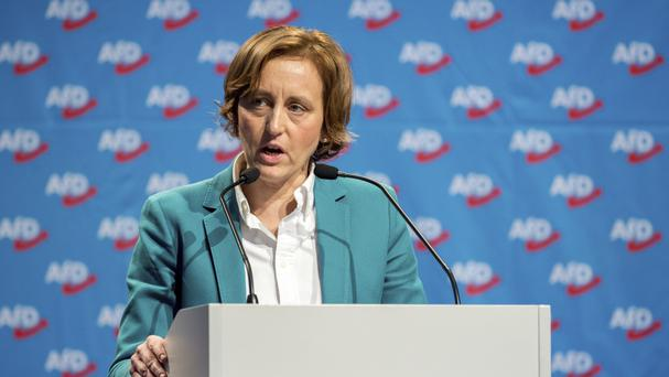 Beatrix von Storch of the nationalist and anti-Islam Alternative for Germany party (dpa/AP)