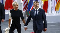 French President Emmanuel Macron's wife Brigitte has told aides she will no longer take a back seat when they attend state functions and visits. Photo: Morris MacMatzen/Getty Images