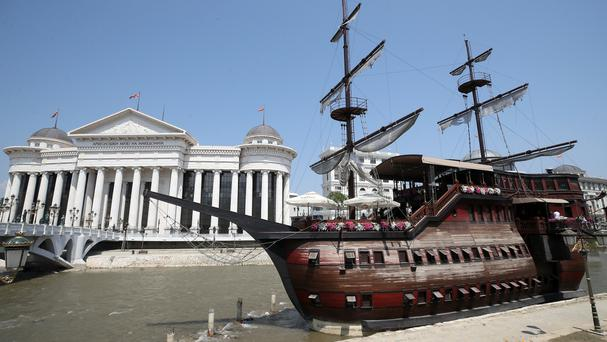 The archeological museum in Skopje, the capital of the country that calls itself Macedonia