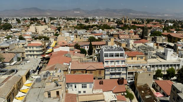 View of the Cypriot city of Nicosia, the factory was located in a suburb