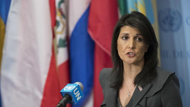 United States Ambassador to the United Nations Nikki Haley called for UN Security Council and Human Rights Council emergency sessions on Iran. (AP Photo/Mary Altaffer)